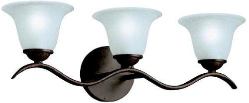 Kichler 6323TZ Dover Bath 3-Light, Tannery Bronze