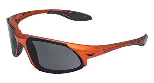 Global Vision Eyewear Code-8 Series Sunglasses with Orange Frame and Smoke Safety ()