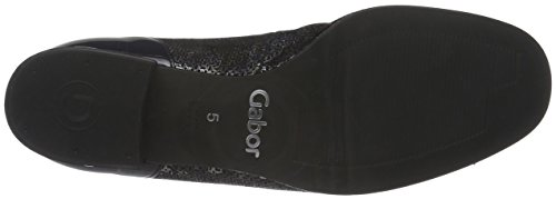 Gabor Shoes Comfort Basic, Bailarinas para Mujer Azul (BLUE/OCEAN 36)