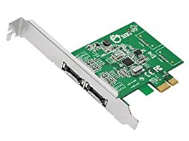 SIIG DP eSATA 6Gb/s 2-Port PCIe Dual Profile PCI Express 2-Port eSATA 6Gb/s Host Adapter (SC-SA0M11-S1)