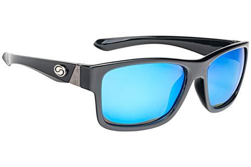(Strike King Lures, Jordan Lee Pro Series Sunglasses, Shinny Black Frame, Gray)