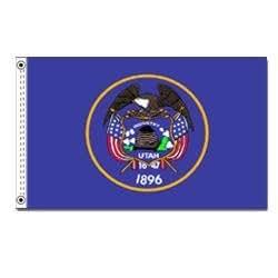 Utah bandera–poliéster (tamaño)
