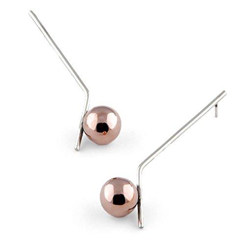 Glow Boucles D'Oreilles - Plaqué au rosé - Argent 925 - Fait à la main