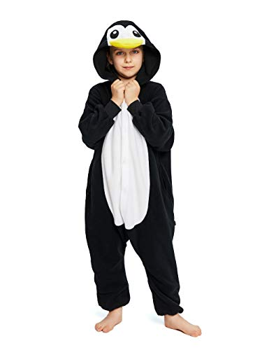 NEWCOSPLAY Unisex Children Penguin Pyjamas Halloween Costume (4-Height