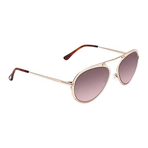 Tom Ford FT0508 Dashel Sunglasses 55 28Z Shiny Rose Gold ()