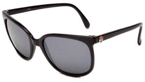 I SKI Phantom Aviator Sunglasses,Black Frame/Smoke & Silver Lens,One - Ski I Sunglasses