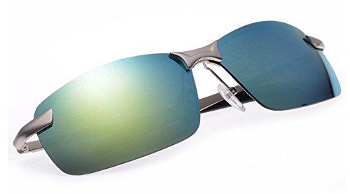 No.66 Town Men's Silver Frame Reflective Polarized Sunglasses - Sunglasses Eye Third