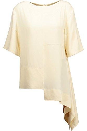 Marni Pastel Yellow Cascading Hem Blouse 38 ()