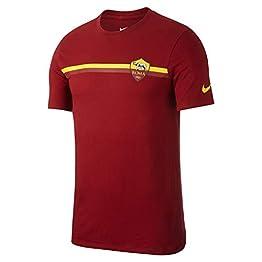 Nike Roma m NK Tee Crest T-Shirt, Homme, Rouge (Team Crimson)