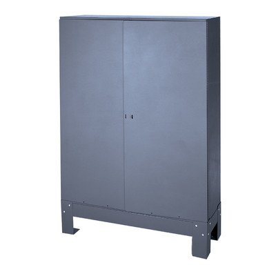 Durham 365-95 Gray Cold Rolled Steel Hinged Door Set for ...