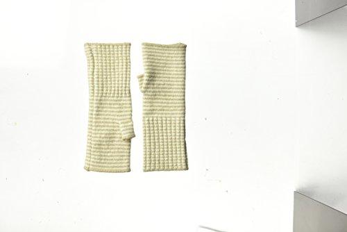 - Echo Women's Soft Stretch Mini Stipe Fingerless Glove, Oatmeal, One Size