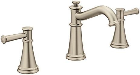Surprising Moen T6405Bn Belfield Two Handle Widespread Bathroom Faucet Brushed Nickel Interior Design Ideas Gentotryabchikinfo