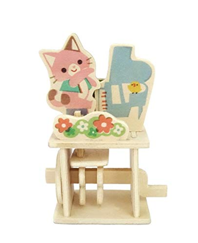 M2M - Wooden Theater Postcard - Animal Band - Kitty