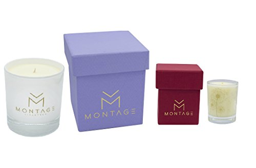Montage Lifestyle Soy Wax Candle Gift Set - Serenity- Aromatherapy Candles for Sleep + Sensual with 100% Pure Essential Oils- Handmade in Greece - Lifestyle Essential Oils