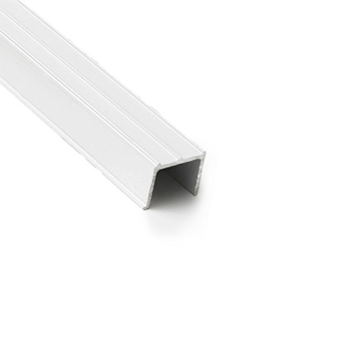 - Sliding Screen Door Tracking - Side Jamb Channel (White)