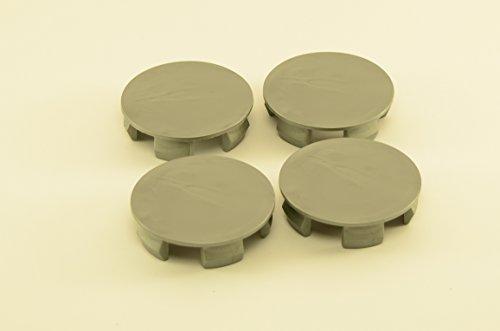 4x Wheel Center Caps - 1.89''(48mm) / 2.05''(52mm) - Gray (Center 52mm Cap Wheel)