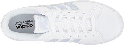 Adidas Neo Women's CF Advantage Sneaker, Ftwr White, Aero Blue s, Core Black, 7.5 M US