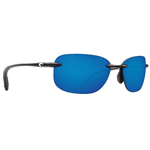 Costa Del Mar Seagrove 580P Seagrove, Shiny Black Blue Mirror, Blue - Del Florida Costa Mar
