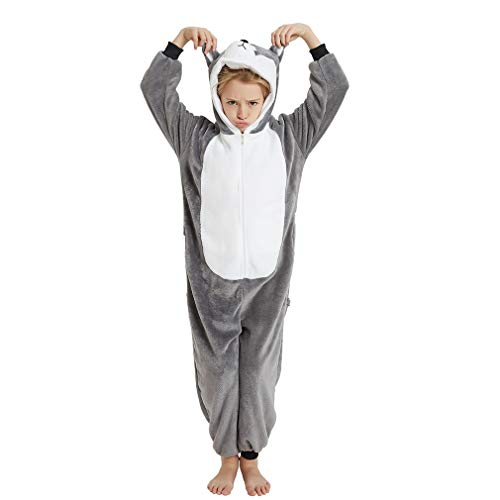 Husky Costumes For Dogs (ANBOTA Girl Dog Animal Onesie Pajamas Kids Halloween Christmas Cosplay Costume (Dog,)