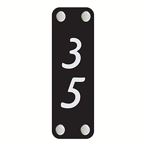 (Modern Home Address Sign - Customized Acrylic Rectangular Vertical Address Plaque - Unique Address Number Sign - Black Home Address Sign - Personalized Color Size. (3 x 10 inch))