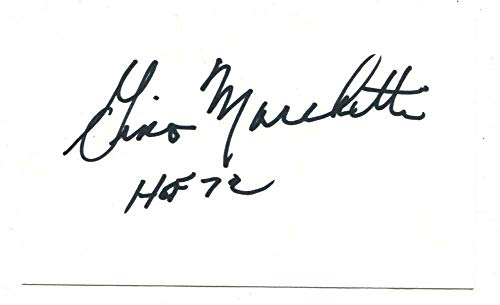 Gino Marchetti Signed Autographed 3 X 5 Index Card Baltimore Colts ()