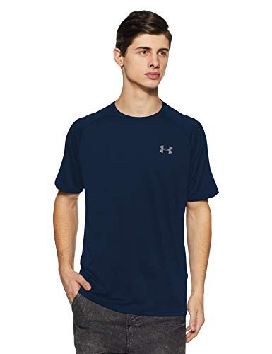 Shirt Training Sleeve (Under Armour Men's Tech 2.0 Short Sleeve, Academy (408)/Graphite, X-Large)