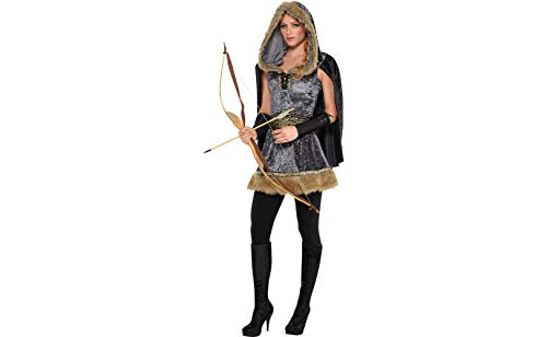 Amscan 849692 Adult Skilled Archer Costume - Small (2-4), Multicolor ()
