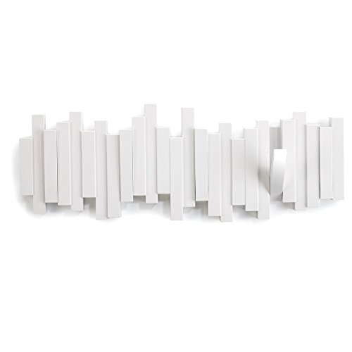 Umbra Sticks 5-Hook Wall Hook, White (Hook Flip)