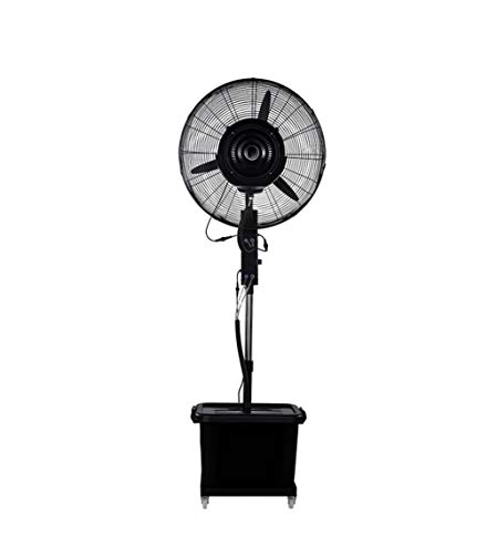 QW Industrial Spray Floor Fan Water Mist Humidification Cooling Water Plus Atomization Movable Automatic On The Water Lifting Fan 350W Three Speed Wind Speed (Large Scale Ball Bearing)