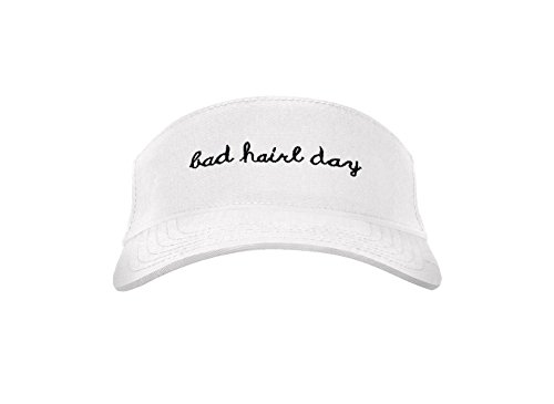Jinnie Bad Hair Day Sun Visor Hats Classic Unisex - Best Visors for Women and Men (White) by Jinniee (Image #2)