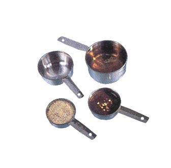 Measuring Cup Set, 1/4, 1/3, 1/2, And 1 Cup (American Measuring Metalcraft Cups Stainless Steel)