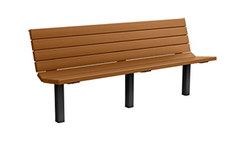 6' Recycled Plastic Champion Bench - In-Ground Mount - Cedar (6' Recycled Plastic Table)