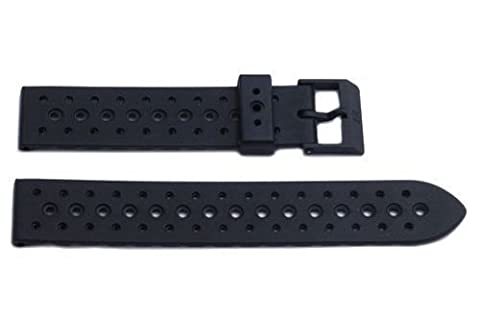 Genuine Synthetic Rubber Black Regular 19mm Watch Band by Swiss Army (Swiss Army Renegade Watch)