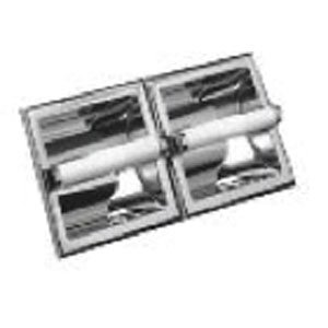 85%OFF Delta Faucet 45270 Twin Paper Holder with 2 Plastic Rollers, Chrome