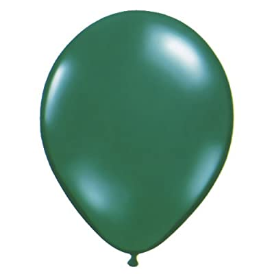 Qualatex 43555 05-Inch Round Emerald Green Latex Balloons (100-Piece): Toys & Games