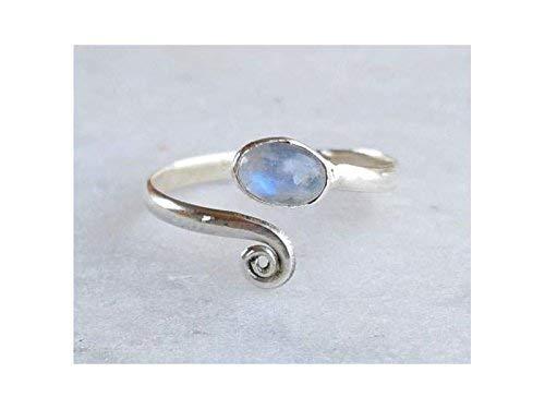 "925 Solid Silver Fabulous RAINBOW MOONSTONE Gem GIRLS/' NOUVEAU Earrings 2/"""