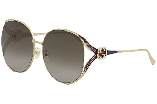 d0e570b51f Gucci sunglasses (GG-0225-S 002) Gold - Blue - Brown for