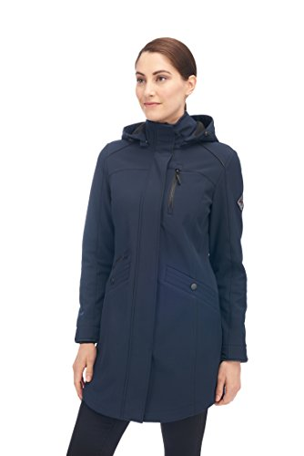 Alpine North Women's Softshell Long Coat, Navy, Large
