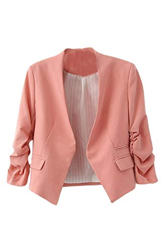 Cardigan Business Lunga Alta Giaccone Unico Elegante Casual Manica Blazer Qualit Di Autunno Puro Coat Colore Donna 8qFPwST