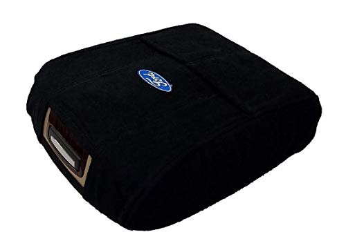Cover Console - Fits Ford F150 F250 2015-2019 Officially Licensed Ford Embroidered Truck Center Armrest Console Lid Cover with Latch Opening Your Cover Should Match Photo Black