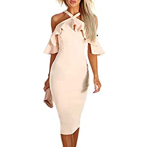 JJLOVER–Women Dress Women Dress Jjlover Cross Strappy Bodycon Dress Cold Lace Party Wrap Dress