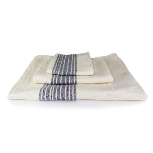 Kontex Organic Cotton Towels From Imabari, Japan - Navy (Set of 3 Towels) by IPPINKA