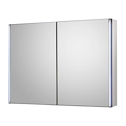 Hudson Reed LQ094 Meloso Mirror Cabinet, Grey, 800 -