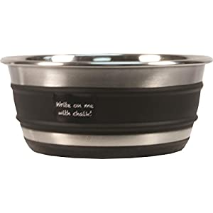 OurPets 2400012992 Durapet Chalkboard Banded Dog Bowls, Medium 58