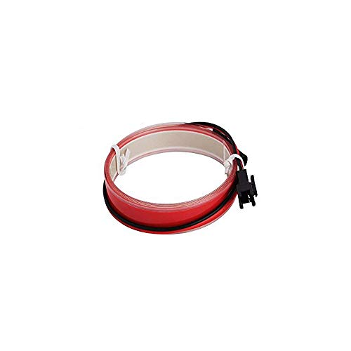 Lysignal 3ft/1M Neon Glowing Strobing Electroluminescent Robbin EL Tape/Belt/Strip with Battery Pack for Cosplay Dress Festival Halloween Christmas Party Decoration (Red)