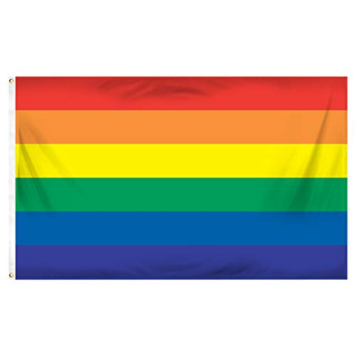 Online Stores Rainbow Printed Polyester Flag, 3 by -