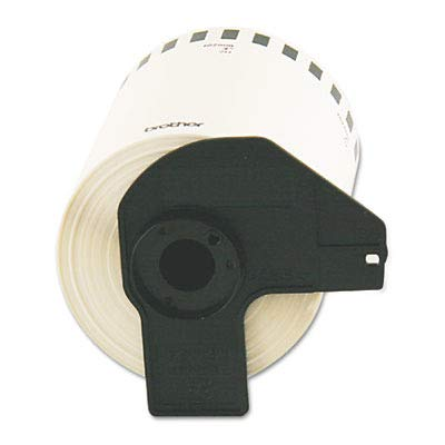"""Brother Genuine DK-2243 Continuous Length Black on White Paper Tape for Brother QL Label Printers, 4"""" x 100' (101mm x 30.4M), 1 Roll per Box, DK2243"""