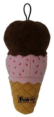 Lulubelles Power Plush - Ice Cream Sugar Cone Squeaky Dog Toy - Small (Cream Dogs Ice)