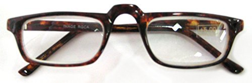High Magnification, Unisex Readers, HALF FRAME, 5.00 Strength, by American Reading Glasses by American Readers