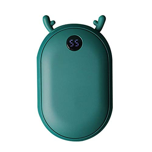mewmewcat Portable Reusable Hand Warmers 25 55? Temperature Setting 2 in 1 Rechargeable 10000mAh Power Banks Pocket Handwarmer Heaters